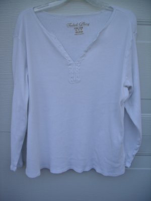 Faded Glory White 3/4 Sleeve Tee SIZE 22W/24W PLUS