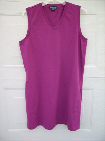 Land's End Puple Cotton tank Dress SIZE LARGE 14/16