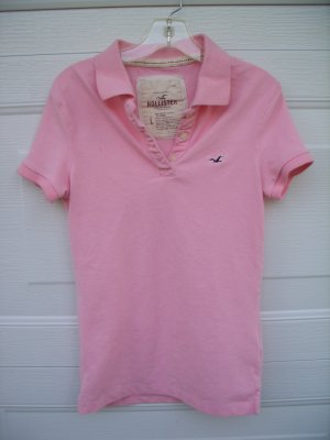 Hollister Pink Polo Tee SIZE LARGE