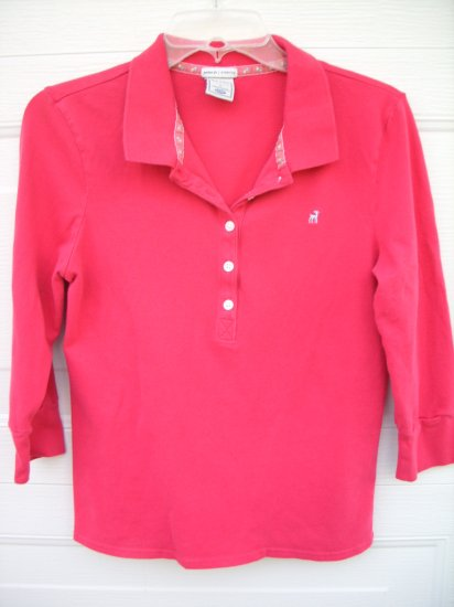 Old Navy Perfect Fit Hot Pink Polo SIZE LARGE