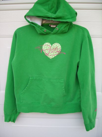 Rusty Green Hooded Sweatshirt SIZE LARGE