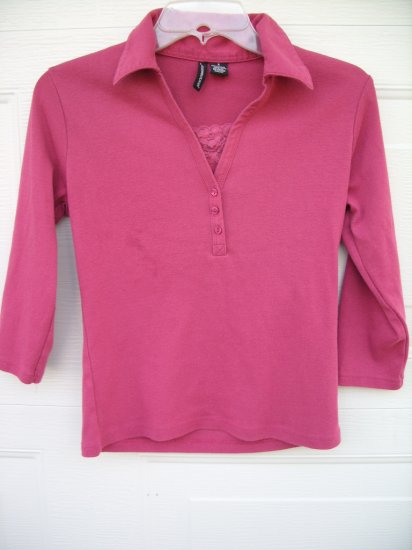 Jason Maxwell Rose Double Layer Top SIZE SMALL