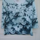 Draper's & Damons 3/4 Sleeve Top SIZE PETITES MEDIUM