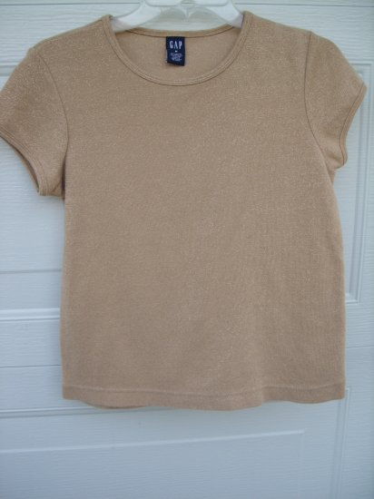 Gap Gold Metallic Tee SIZE MEDIUM