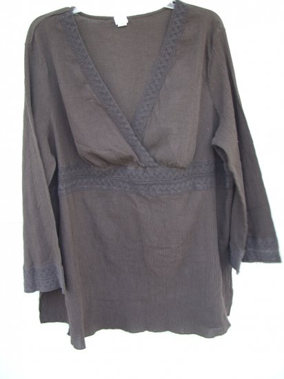 Merona Brown Tunic Top SIZE 24/26W 3X PLUS
