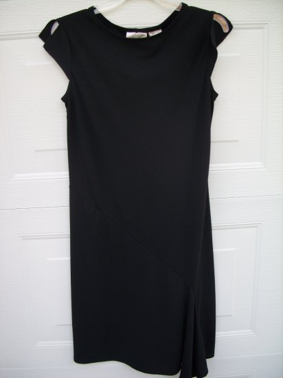 Kathie Lee Black Dress SIZE SMALL 4/6