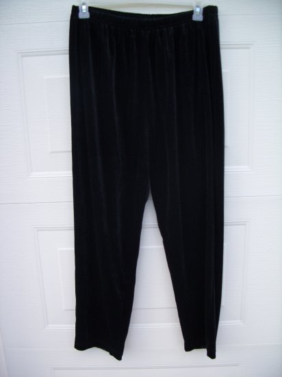 Bobbie Brooks Black Velour Pants SIZE18W/20W PLUS