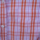 Maurices Orange LS Button Up Shirt SIZE MEDIUM
