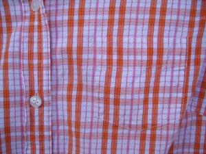 Maurices Orange LS Button Up Shirt SIZE MEDIUM