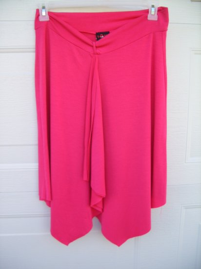 Sassy Hot Pink Stretch Skirt SIZE LARGE
