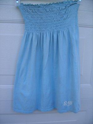 Roxy Light Blue Tube Dress Top SIZE MEDIUM