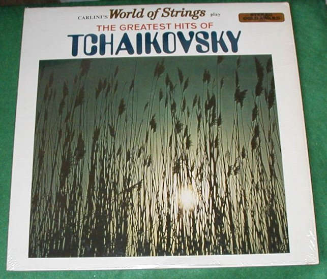 TCHAIKOVSKY THE GREATEST HITS WORLD MUSIC 33 RECORD LP