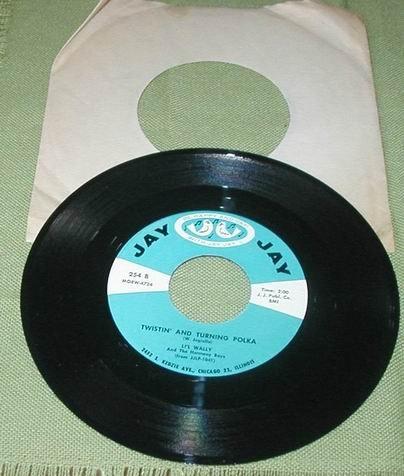 LI'L WALLY 45 RECORD TWISTIN' AND TURNING POLKA TWIST