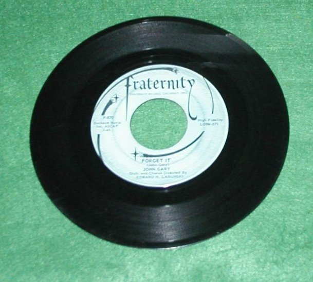 JOHN GARY 45 RECORD THE BELL RINGS FORGET IT LABUNSKI