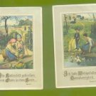 2 OLD VINTAGE GERMAN POSTCARD PRINTS KINDER CHILDREN