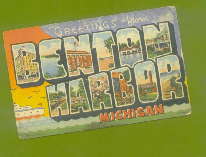 POSTCARD * BENTON HARBOR MICHIGAN 1946 HOUSE OF DAVID