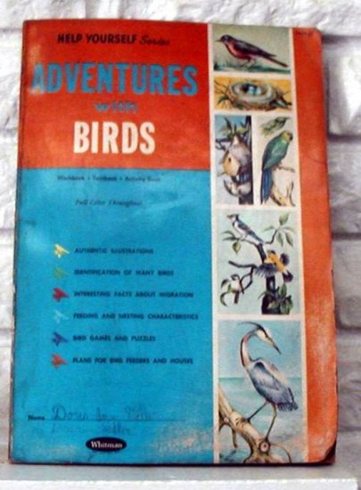 "Vintage Whitman ""ADVENTURES WITH BIRDS"" Activity Book"