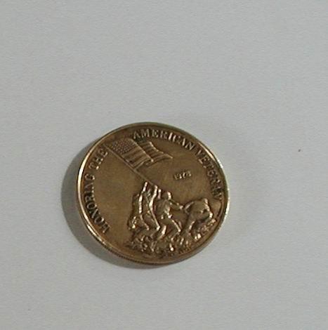 1978 HONORING THE AMERICAN VETERAN BRASS MEDALLION COIN