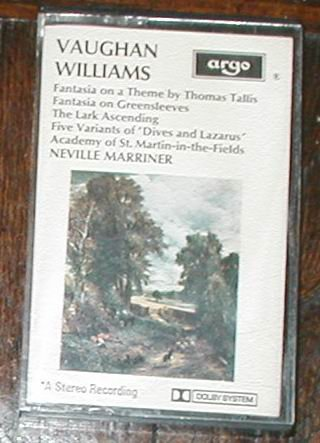 VAUGHAN WILLIAMS CASSETTE TAPE FANTASIA