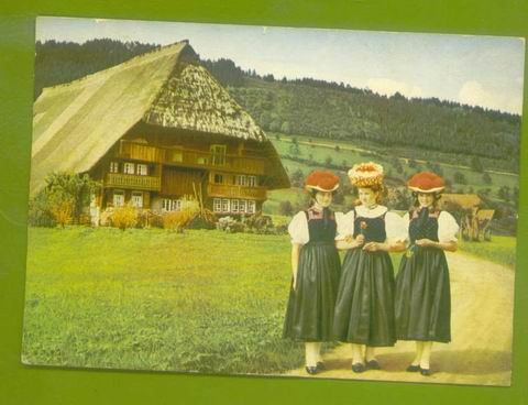 Schwarzwald GERMANY Women in Native Costume POST CARD