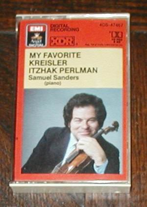 MY FAVORITE KREISLER ITZHAK PERLMAN SAMUEL SANDERS