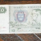 Sweden Sverige Riksbank 10Kr dated 1987 BB C12291 MONEY CIRCULATED