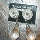 CLUNKY PIERCED DANGLE RHINSTONE EARRINGS  PRISMS