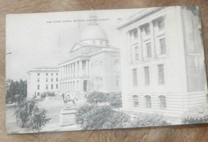THE STATE HOUSE BOSTON MASSACHUSETTS Postcard. USED POSTCARD  1938. .