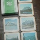 CANADA ROCKIES 6 COASTER SET /BOX ALBERTA MOUNTAINS. BY PIMPERNEL