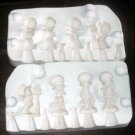 CERAMIC MOLD 4 BONNET GIRLS HOLLY HOBBIE 1967 EVERGREEN
