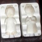 CERAMIC MOLD KNEELING PRAYING GIRL  CUTE R 627