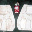 ceramic mold NORTH POLE 3 BUILDINGS MACKY'S TRAIN SIZE