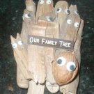 NUT IN FAMILY TREE DRIFTWOOD WALL DECORATION EYE WALNUT