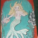 "NUDE MERMAID OIL PAINTING OOAK FANTASY 18"" BY 24"" FISH"