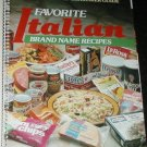 COOKBOOK BOOK  Favorite Italian Brand Name Recipes