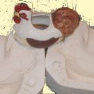 CERAMIC MOLD MACKY PLANTER CHICKEN ON BASKET 5358 BIG