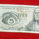 CINCO FIVE DOLLAR EL BANCO DE MEXICO S.A. M2404038 1972