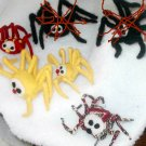 ITSY BITSY SPIDER DECORATION YELLOW 8 LEGS ORNAMENT CHOICE