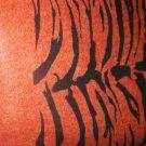 "ORANGE TIGER FELT FABRIC FOR COSTUME OR CRAFT.  1/2 YARD BY 45""."
