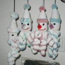 CROCHET CLOWN BABY TOY HAND MADE USA SOFT NO PLASTIC  DOLL MEASURES 11 1/2