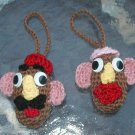 MR POTATO HEAD MS POTATO CROCHET ORNAMENT