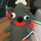 CHRISTMAS  TREE  GOOFY TOILET PAPER COVER CROCHET HANDMADE USA OOAK