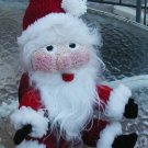 SANTA CLAUS CHRISTMAS DECORATION Toilet paper cover crochet USA DOLL