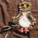 CROCHET  LARGE 11 INCH  OWL Appliques  SEW ON HAND MADE MADE IN AMERICA USA.  THE OWL