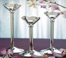 Diamond shape tealight holders