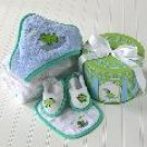 Finley the Frog Four-Piece Hat Box Bath Time Gift Set