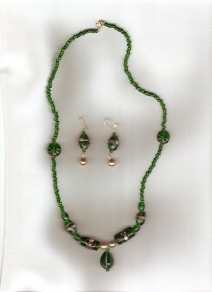 Emerald Fascination Beaded Set