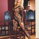 Bordeaux (Black Diamond) (BLACK) BODY STOCKING