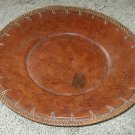 Old Western Charger Plate- Leatherlike- Corded- 14""