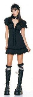4 Piece Gothic Doll Dress Costume
